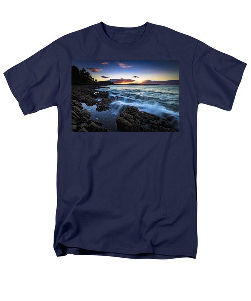 Men's T-Shirt  (Regular Fit) featuring the photograph Sunset On Ber Beach Galicia Spain by Pablo Avanzini