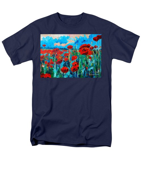 Men's T-Shirt  (Regular Fit) featuring the painting Sunset Poppies by Ana Maria Edulescu