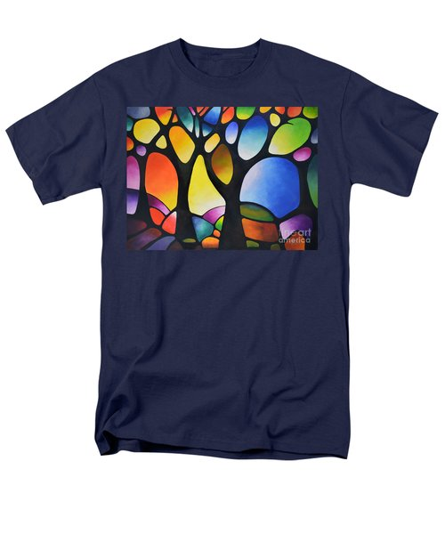 Sunset Trees Men's T-Shirt  (Regular Fit) by Sally Trace