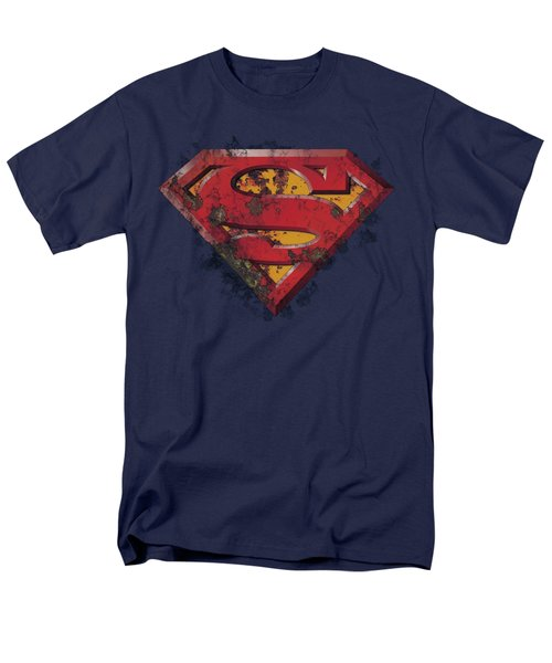 Superman - Rusted Shield Men's T-Shirt  (Regular Fit) by Brand A