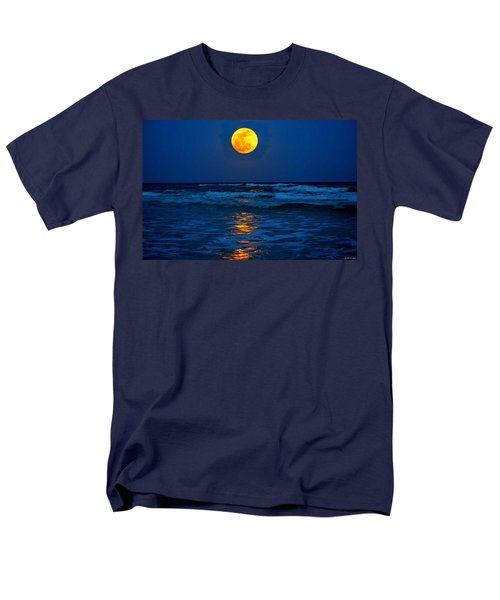 Supermoon Rising On Navarre Beach 20120505c Men's T-Shirt  (Regular Fit) by Jeff at JSJ Photography