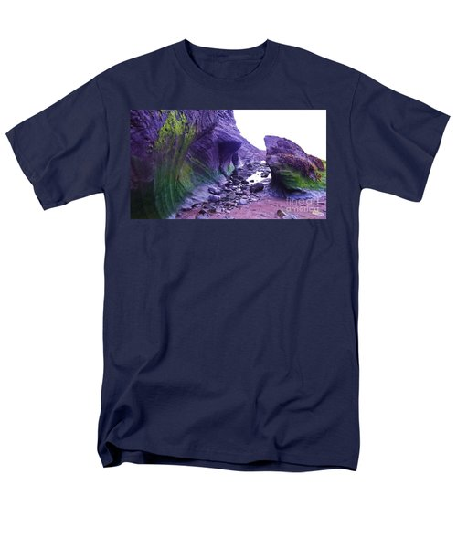 Men's T-Shirt  (Regular Fit) featuring the photograph Swirl Rocks by John Williams