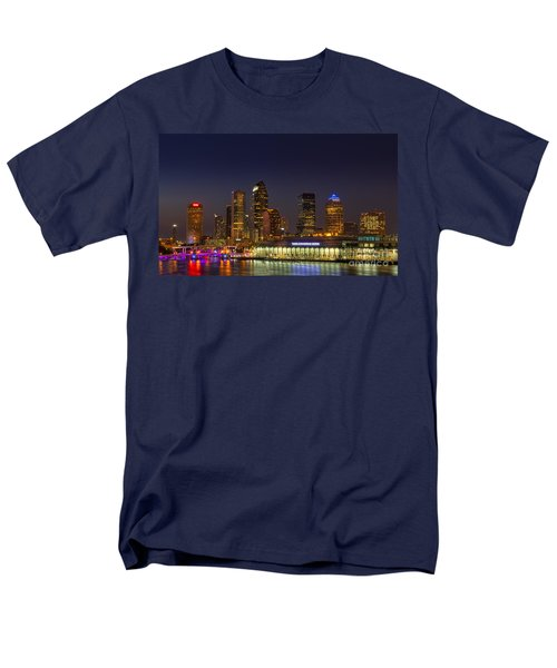 Tampa Lights At Dusk Men's T-Shirt  (Regular Fit) by Marvin Spates