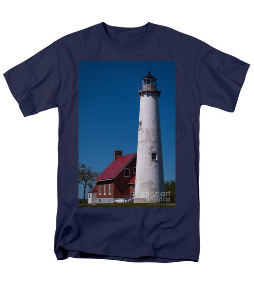 Men's T-Shirt  (Regular Fit) featuring the photograph Tawas Point Lighthouse by Patrick Shupert