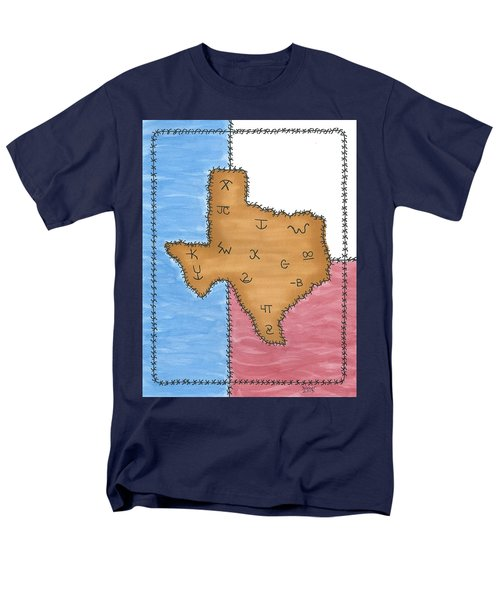 Men's T-Shirt  (Regular Fit) featuring the painting Texas Tried And True Red White And Blue by Susie WEBER