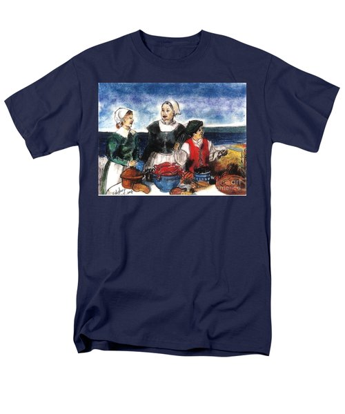 Thanksgiving Supper Men's T-Shirt  (Regular Fit) by Francine Heykoop