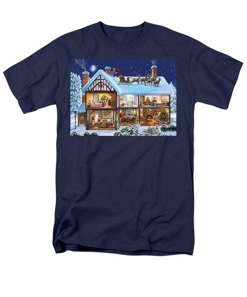 Christmas House Men's T-Shirt  (Regular Fit) by Steve Crisp