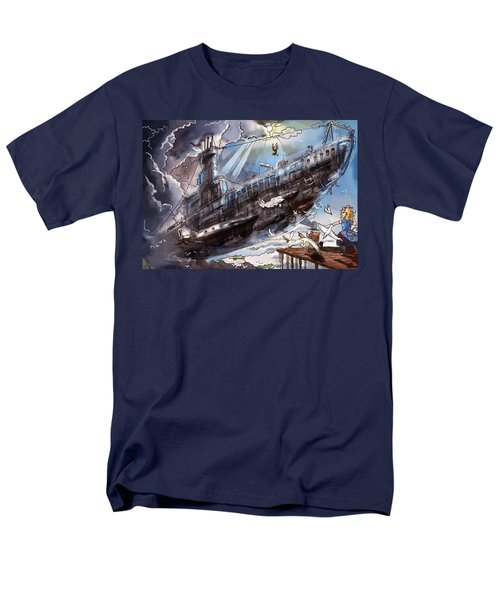 The Flying Submarine Men's T-Shirt  (Regular Fit) by Reynold Jay