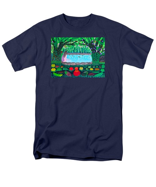 Men's T-Shirt  (Regular Fit) featuring the painting The Hidden Water by Lorna Maza