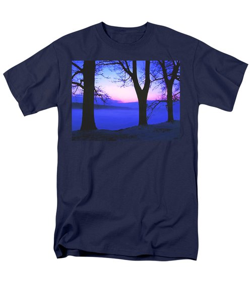 Men's T-Shirt  (Regular Fit) featuring the painting The Hush At First Light by Sophia Schmierer