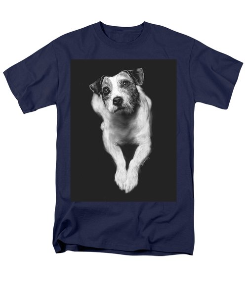 Men's T-Shirt  (Regular Fit) featuring the drawing The Jack Russell Stare- Got Ball? by Rachel Hames