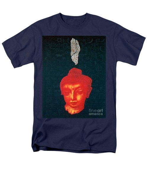 Men's T-Shirt  (Regular Fit) featuring the painting The Light Of Face_ Sold by Fei A