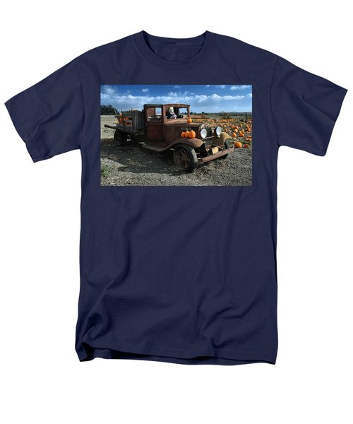 Men's T-Shirt  (Regular Fit) featuring the photograph The Old Pumpkin Patch by Michael Gordon