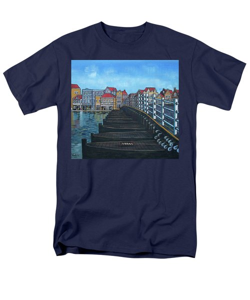 The Old Queen Emma Bridge In Curacao Men's T-Shirt  (Regular Fit) by Frank Hunter