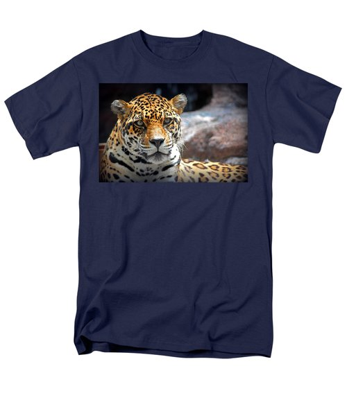 The Ole Leopard Don't Change His Spots Men's T-Shirt  (Regular Fit) by Lynn Sprowl
