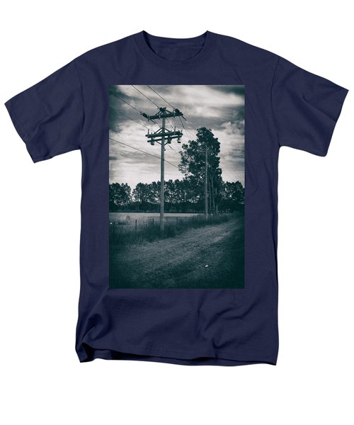 The Power Lines  Men's T-Shirt  (Regular Fit) by Howard Salmon
