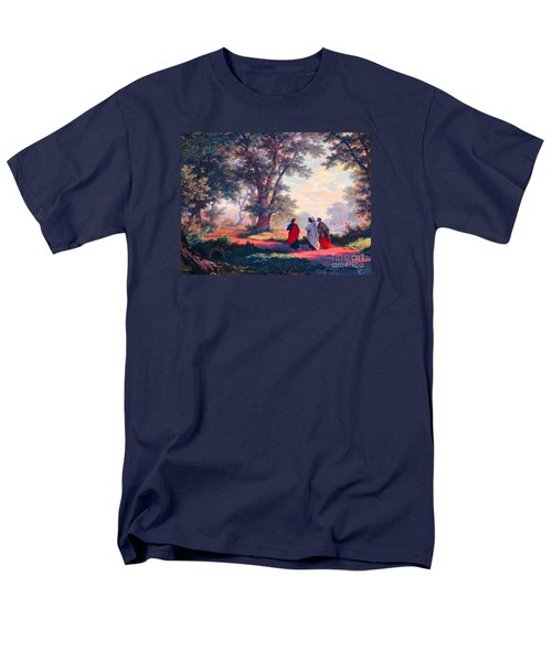 The Road To Emmaus Men's T-Shirt  (Regular Fit) by Tina M Wenger