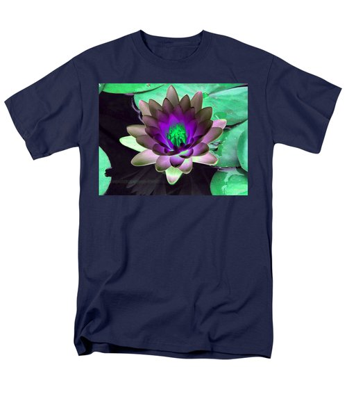 Men's T-Shirt  (Regular Fit) featuring the photograph The Water Lilies Collection - Photopower 1114 by Pamela Critchlow