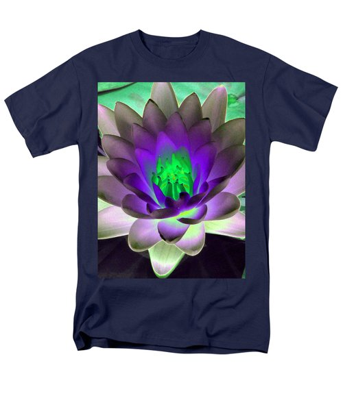 Men's T-Shirt  (Regular Fit) featuring the photograph The Water Lilies Collection - Photopower 1115 by Pamela Critchlow
