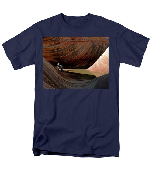 Men's T-Shirt  (Regular Fit) featuring the photograph 'the Wave' North Coyote Buttes 44 by Jeff Brunton