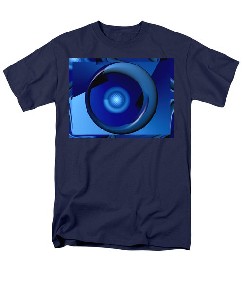 Thinking Of Blue Men's T-Shirt  (Regular Fit) by Wendy J St Christopher