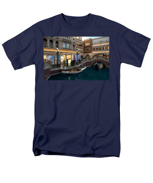 It's Not Venice - The White Wedding Gondola Men's T-Shirt  (Regular Fit) by Georgia Mizuleva