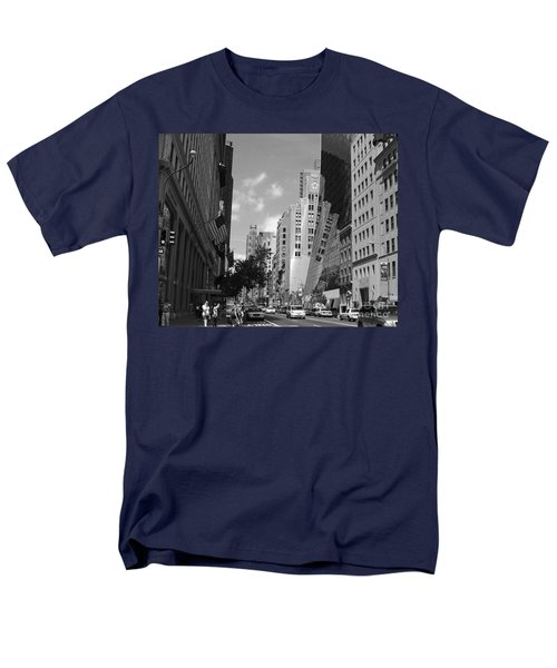 Men's T-Shirt  (Regular Fit) featuring the photograph Through The Looking Glass In Black And White by Meghan at FireBonnet Art