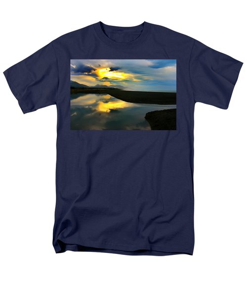 Men's T-Shirt  (Regular Fit) featuring the photograph Tidal Pond Sunset New Zealand by Amanda Stadther