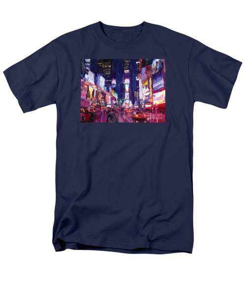 Amy's Time Square In The Rain Men's T-Shirt  (Regular Fit) by Tim Gilliland