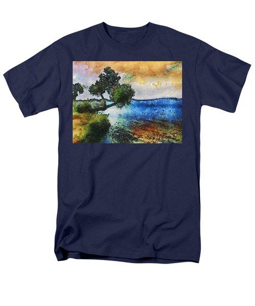Time Well Spent - Medina Lake Men's T-Shirt  (Regular Fit) by Wendy J St Christopher
