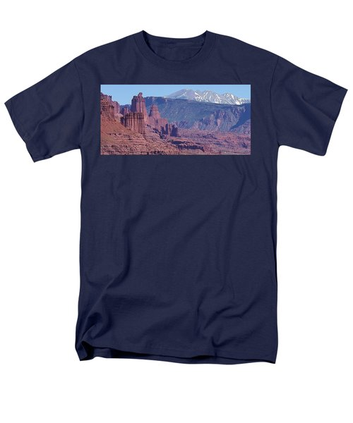 Men's T-Shirt  (Regular Fit) featuring the photograph Towering Rockformations by Bruce Bley