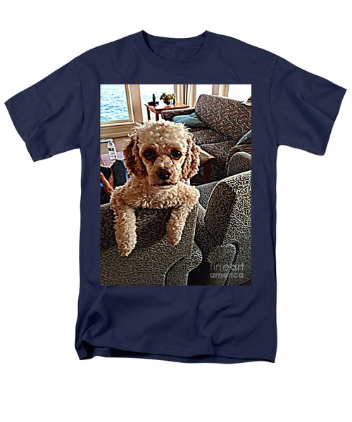 Men's T-Shirt  (Regular Fit) featuring the photograph Toy Cockapoodle 1 by Richard W Linford