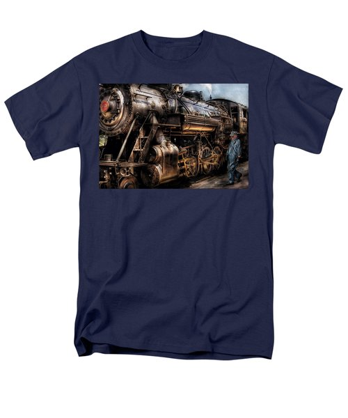 Train - Engine -  Now Boarding Men's T-Shirt  (Regular Fit) by Mike Savad