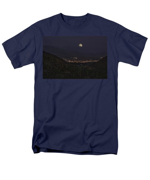 Men's T-Shirt  (Regular Fit) featuring the photograph Tucson At Dusk by Lynn Geoffroy