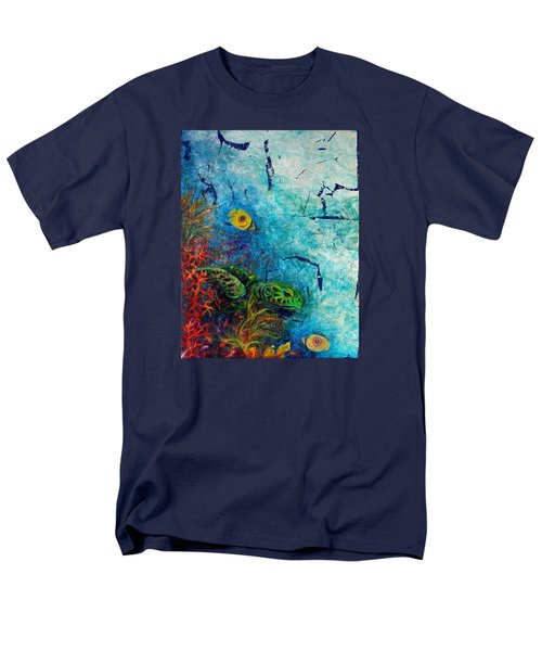 Turtle Wall 1 Men's T-Shirt  (Regular Fit) by Ashley Kujan