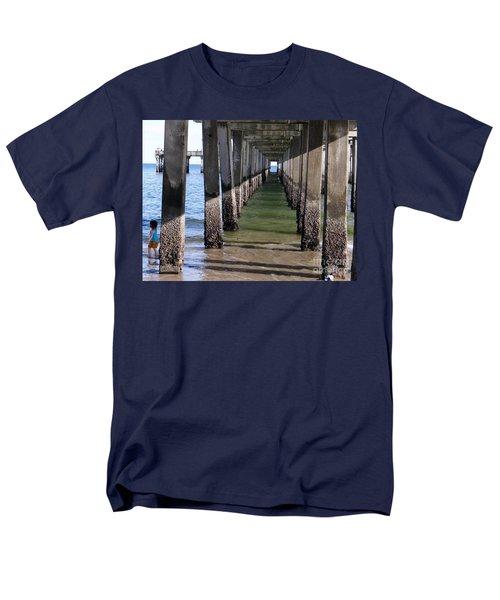 Men's T-Shirt  (Regular Fit) featuring the photograph Under The Boardwalk by Ed Weidman
