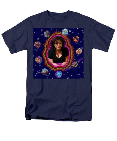 United Planets Of Mona Robin Men's T-Shirt  (Regular Fit) by Robert SORENSEN