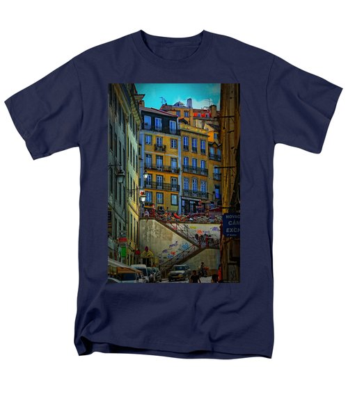 Up The Stairs - Lisbon Men's T-Shirt  (Regular Fit) by Mary Machare
