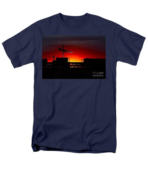 Men's T-Shirt  (Regular Fit) featuring the photograph Urban Sunrise by Linda Bianic
