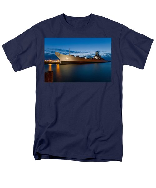 Uss Wisconsin At Sunset Men's T-Shirt  (Regular Fit) by Jerry Gammon