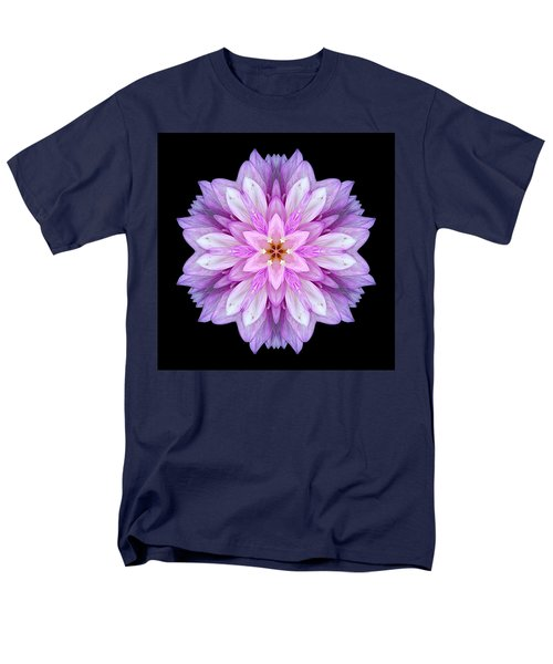 Violet Dahlia I Flower Mandala Men's T-Shirt  (Regular Fit)