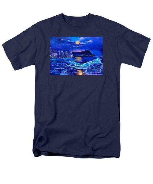 Waikiki Lights Men's T-Shirt  (Regular Fit) by Jenny Lee