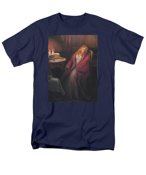 Men's T-Shirt  (Regular Fit) featuring the painting Waiting by Donna Tucker