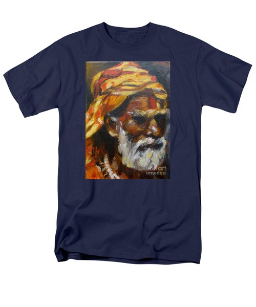 Men's T-Shirt  (Regular Fit) featuring the painting Wandering Sage Small by Mukta Gupta