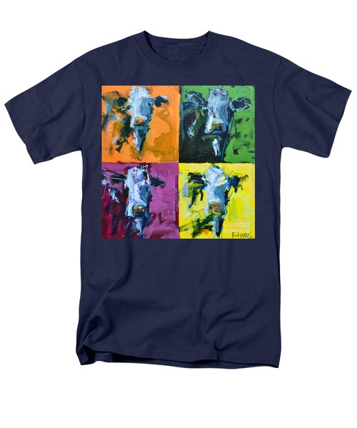 Warhol Cows Men's T-Shirt  (Regular Fit) by Robert Joyner