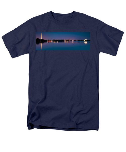Men's T-Shirt  (Regular Fit) featuring the photograph Washington Skyline by Sebastian Musial