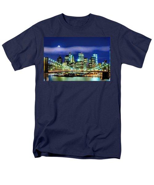 Watching Over New York Men's T-Shirt  (Regular Fit) by Az Jackson