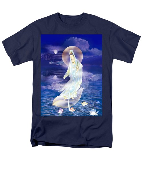 Water Moon Avalokitesvara  Men's T-Shirt  (Regular Fit) by Lanjee Chee