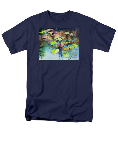 Men's T-Shirt  (Regular Fit) featuring the painting Waterlilies In Shadow by Kathy Braud