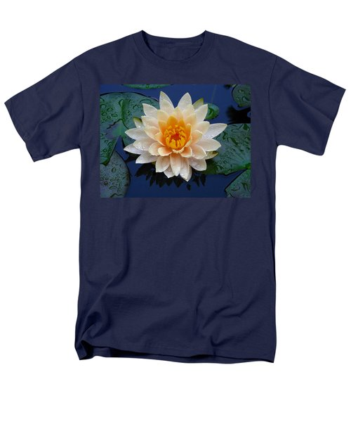 Waterlily After A Shower Men's T-Shirt  (Regular Fit) by Raymond Salani III